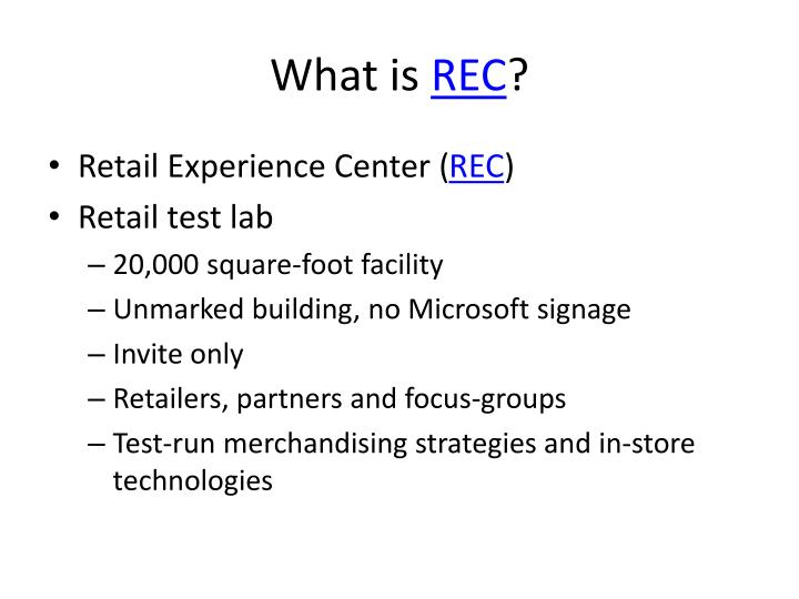 What is rec