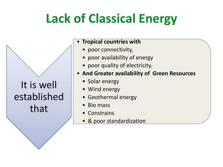 Lack of Classical Energy