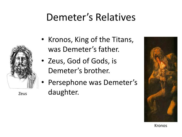 Demeter's Relatives