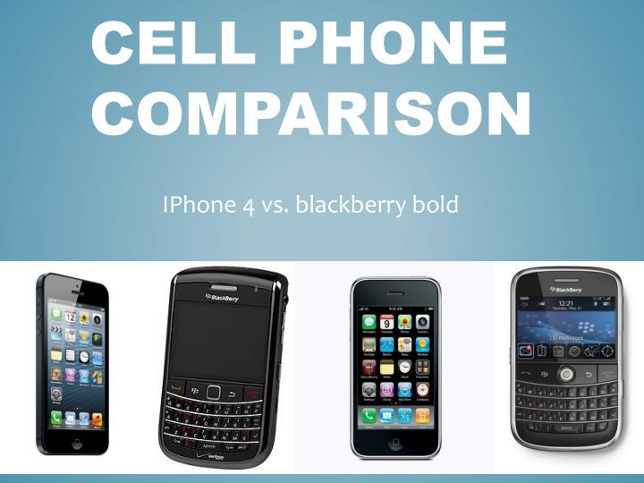cell phone comparison
