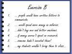 exercise b1