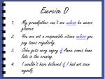 exercise d
