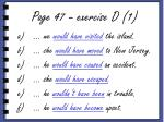 page 47 exercise d 1