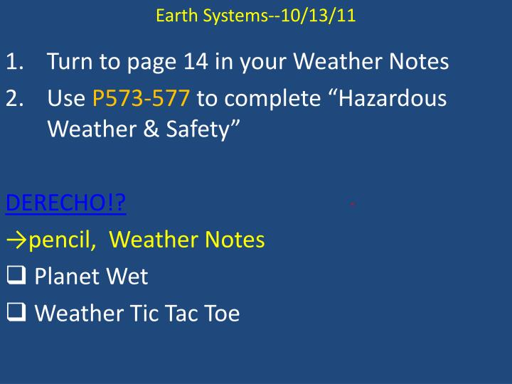 Earth Systems-