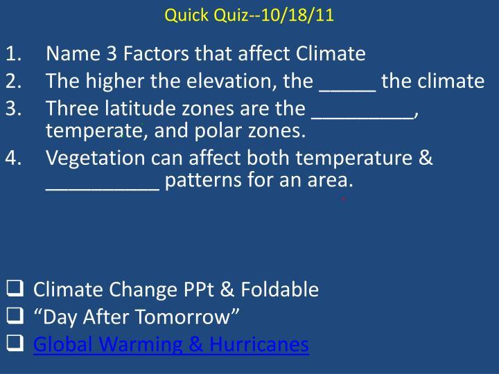 Quick Quiz--10/18/11