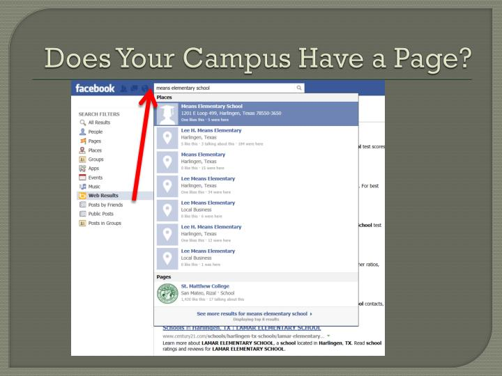 Does Your Campus Have a Page?