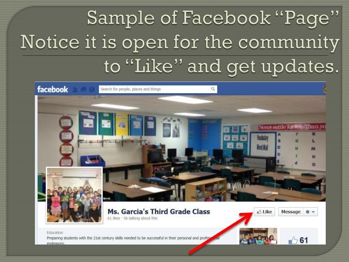 "Sample of Facebook """