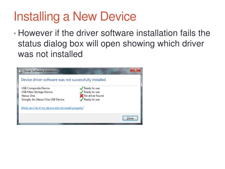 Installing a New Device