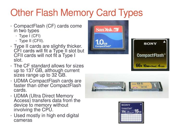 Other Flash Memory Card Types