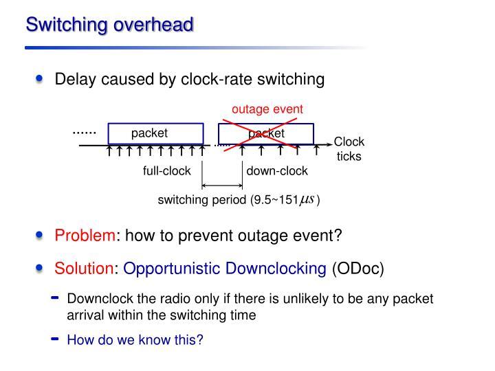 Switching overhead