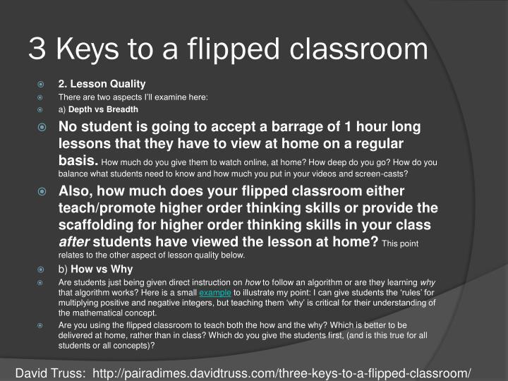 3 Keys to a flipped classroom