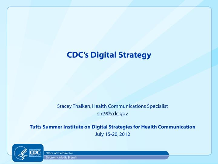 cdc s digital strategy n.
