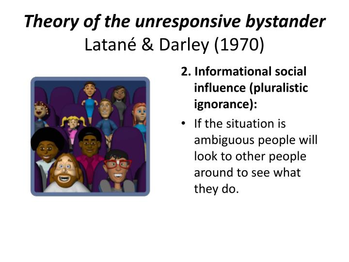 Theory of the unresponsive bystander