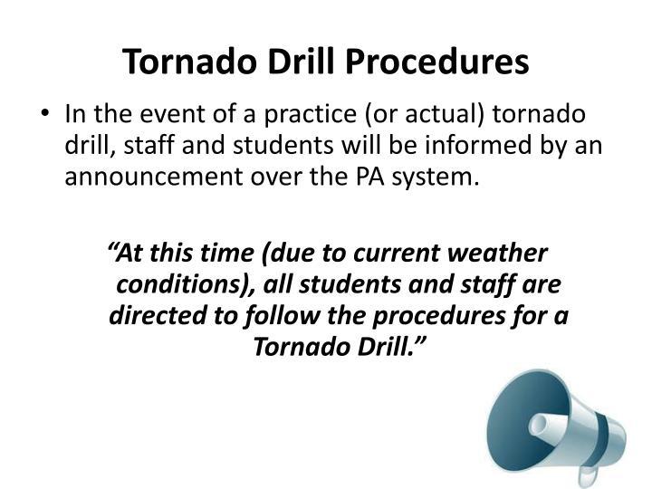 Tornado Drill Procedures