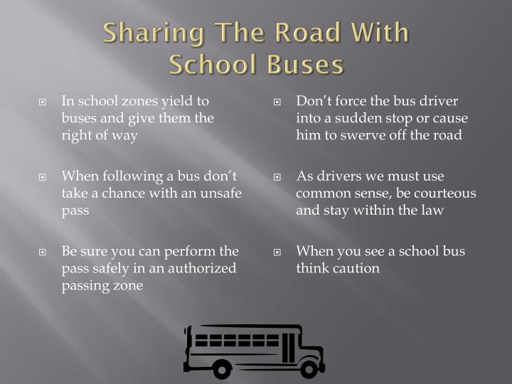 Sharing the road with school buses1