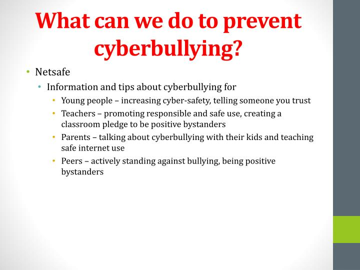 What can we do to prevent