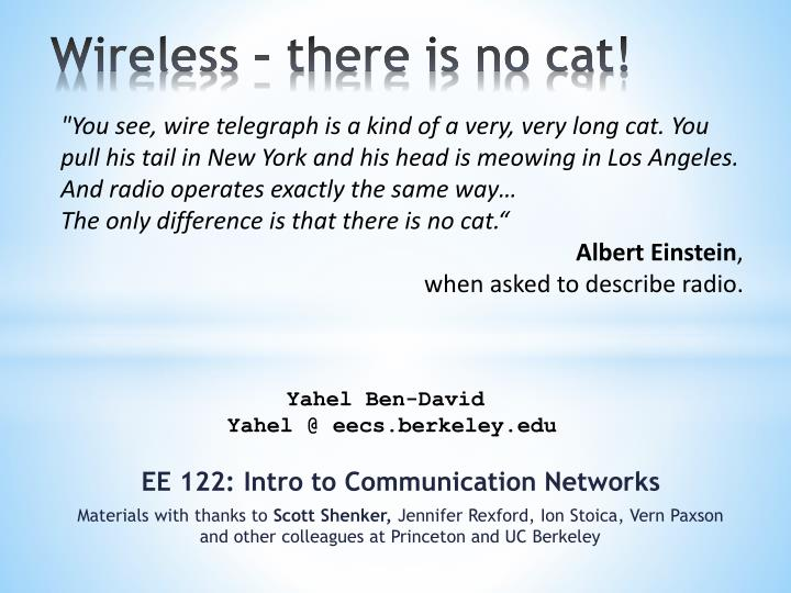 wireless there is no cat