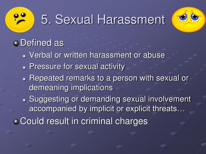 5. Sexual Harassment