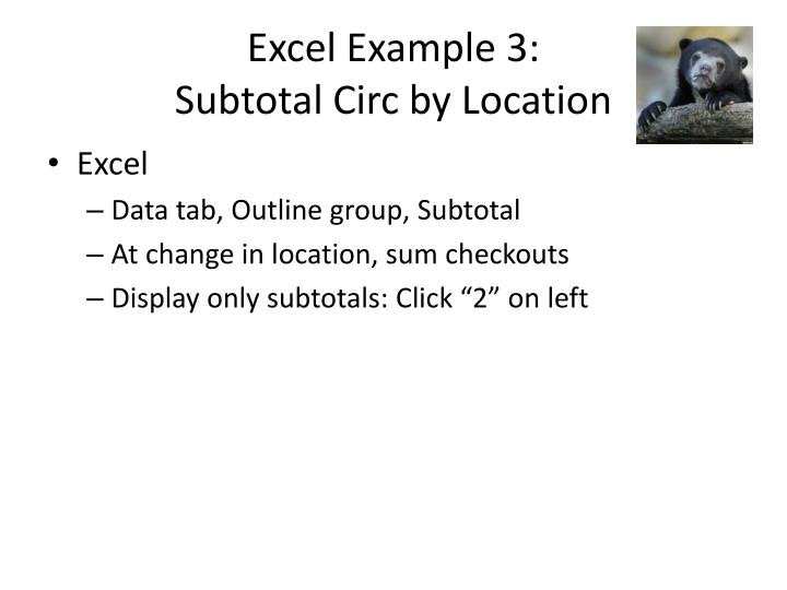 Excel Example 3: