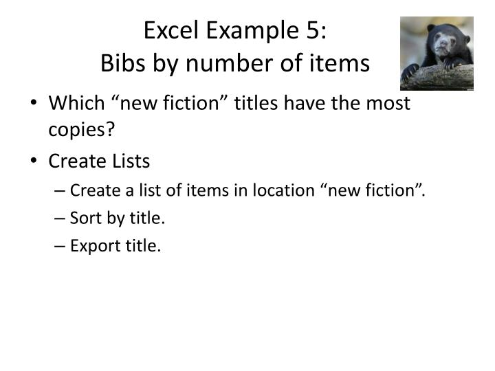 Excel Example 5: