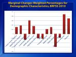 marginal changes weighted percentages for demographic characteristics brfss 2010