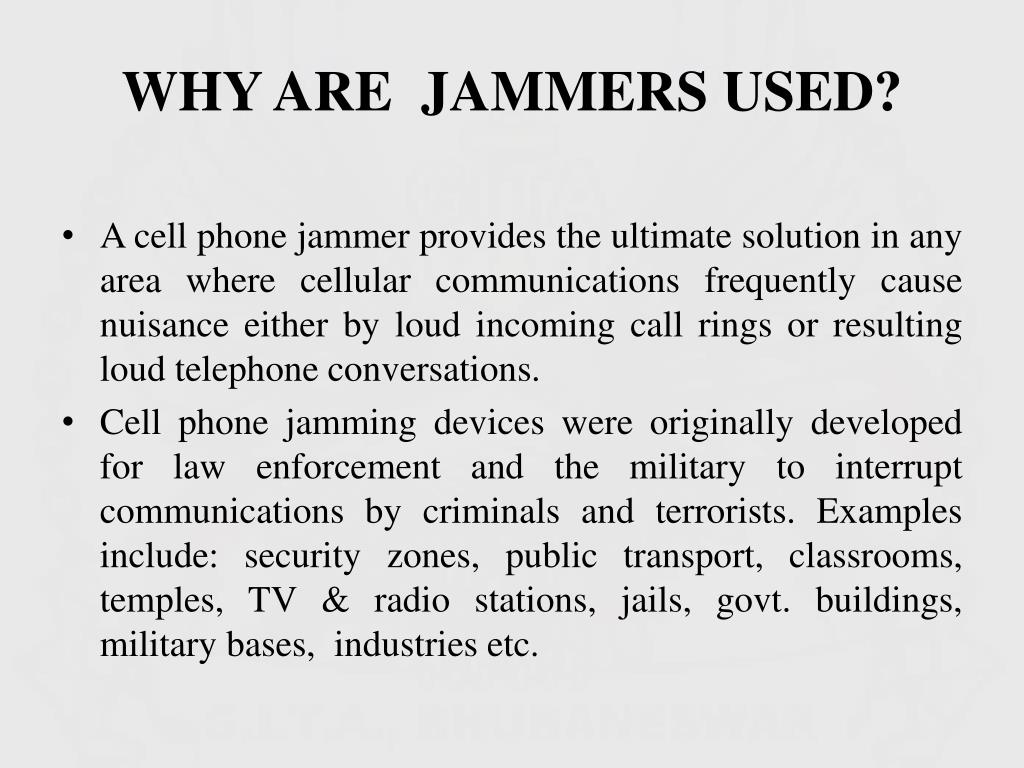 PPT - Cell Phone Jammer PowerPoint Presentation - ID:1549043