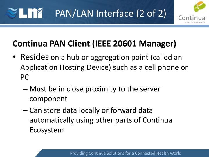 PAN/LAN Interface (2 of 2)