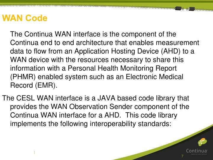 WAN Code