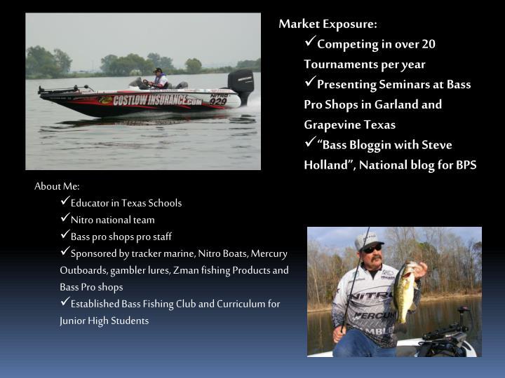 Ppt steve holland s promotional sponsorship proposal for Fishing sponsor shirts