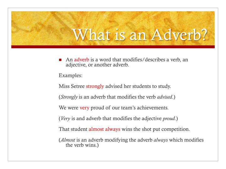 Ppt Adjectives And Adverbs Powerpoint Presentation Id1549084