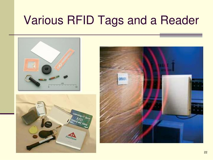 Various RFID Tags and a Reader