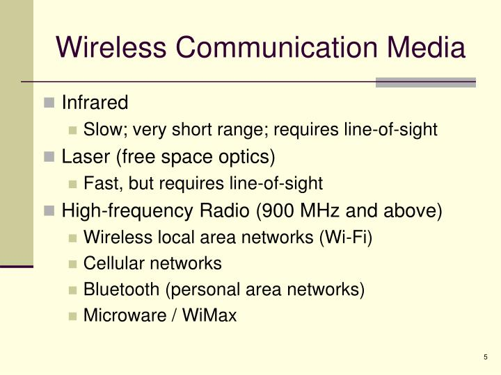 Wireless Communication Media