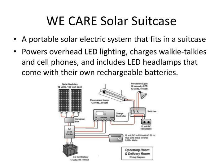 WE CARE Solar Suitcase