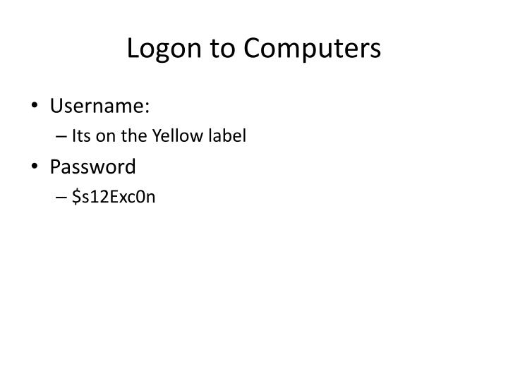 Logon to computers