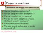 people vs machines