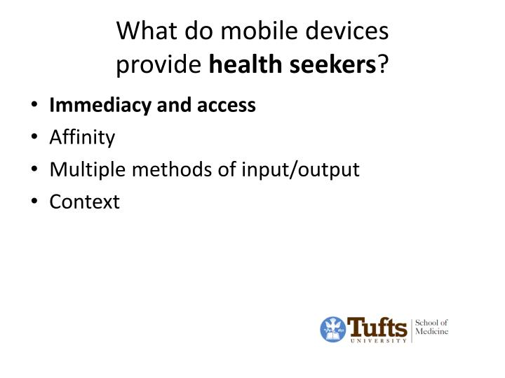 What do mobile devices