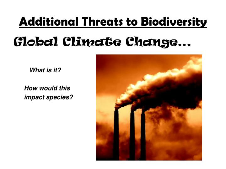 Additional Threats to Biodiversity