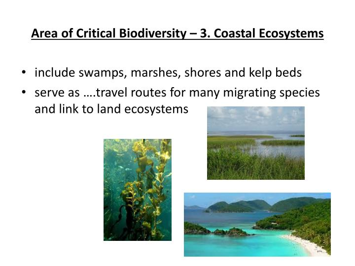 Area of Critical Biodiversity – 3. Coastal Ecosystems