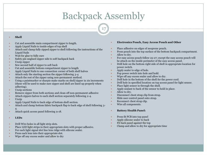 Backpack Assembly