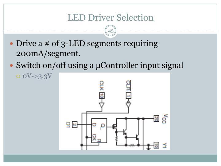 LED Driver Selection