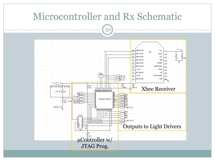 Microcontroller and Rx Schematic