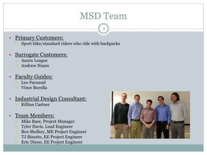Msd team