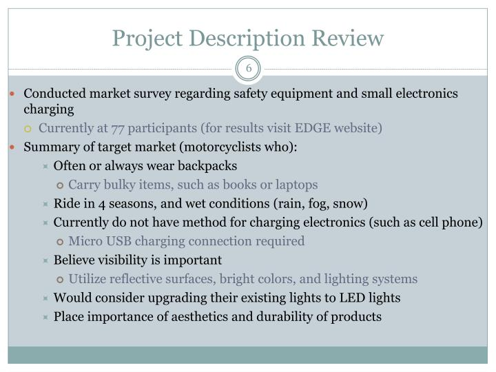 Project Description Review