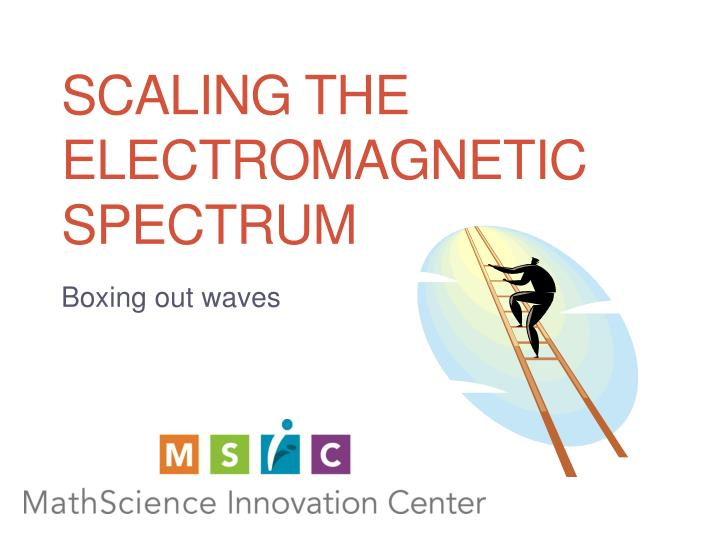 scaling the electromagnetic spectrum n.