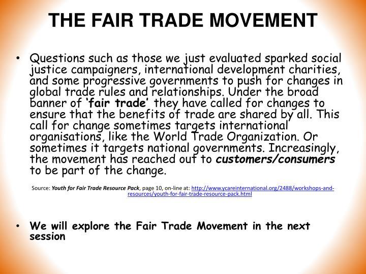 THE FAIR TRADE MOVEMENT