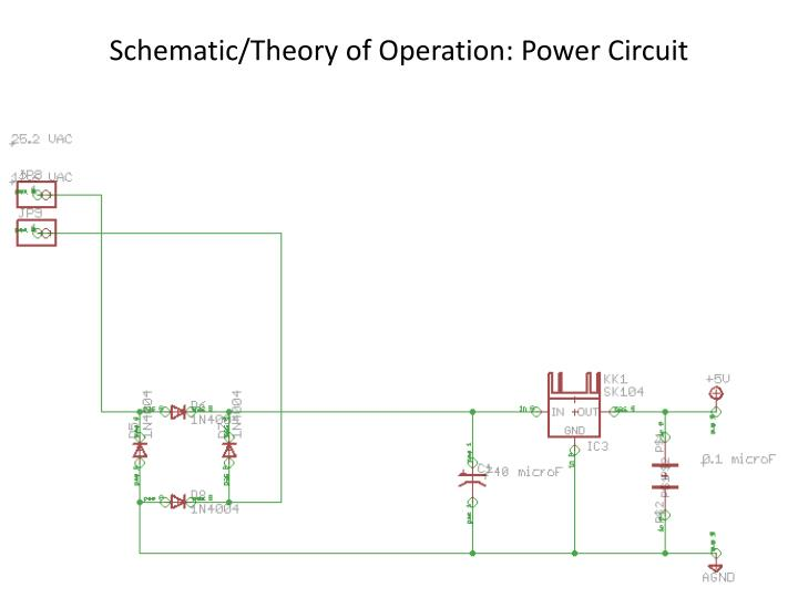 Schematic/Theory of Operation: Power Circuit