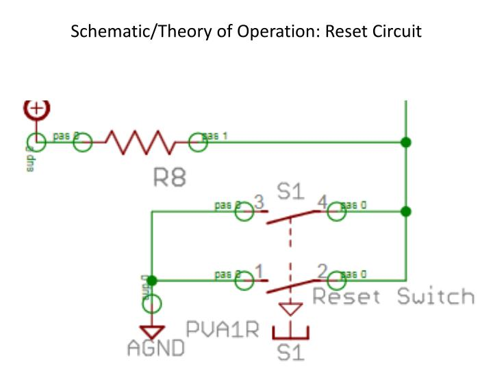 Schematic/Theory of Operation: Reset Circuit