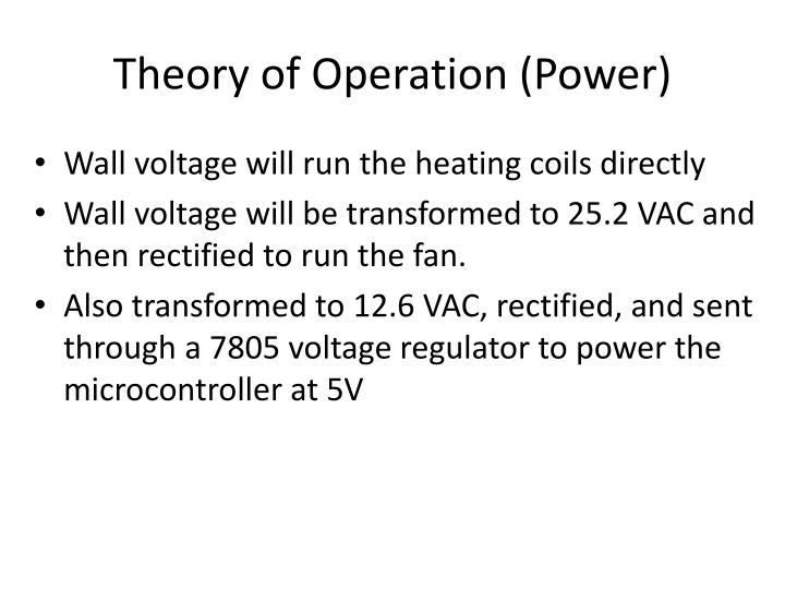 Theory of Operation (Power)