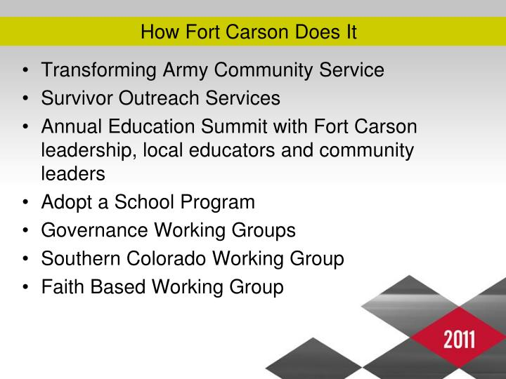 How Fort Carson Does It