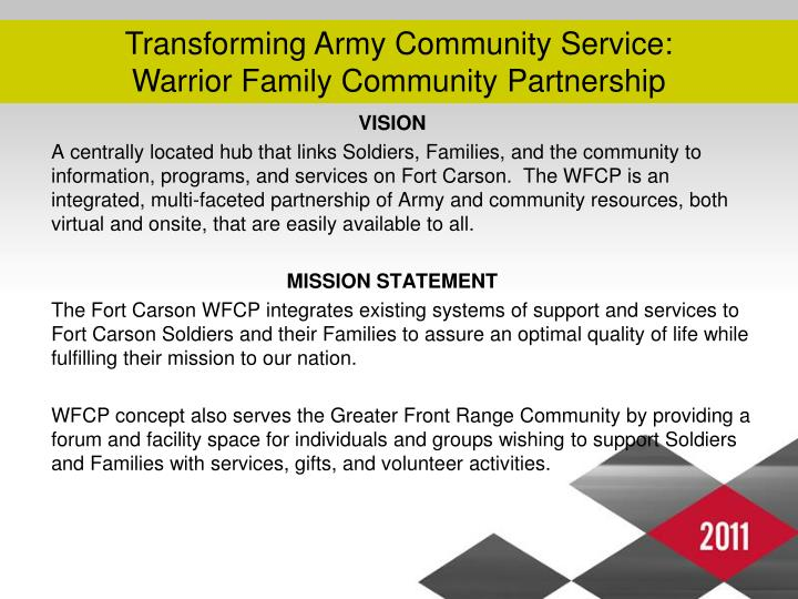 Transforming Army Community Service: